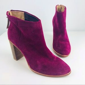 Ted Baker Lorca 2 Wine Suede Ankle Boot